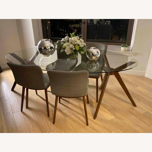 Lazzoni Glass Top Dining Table