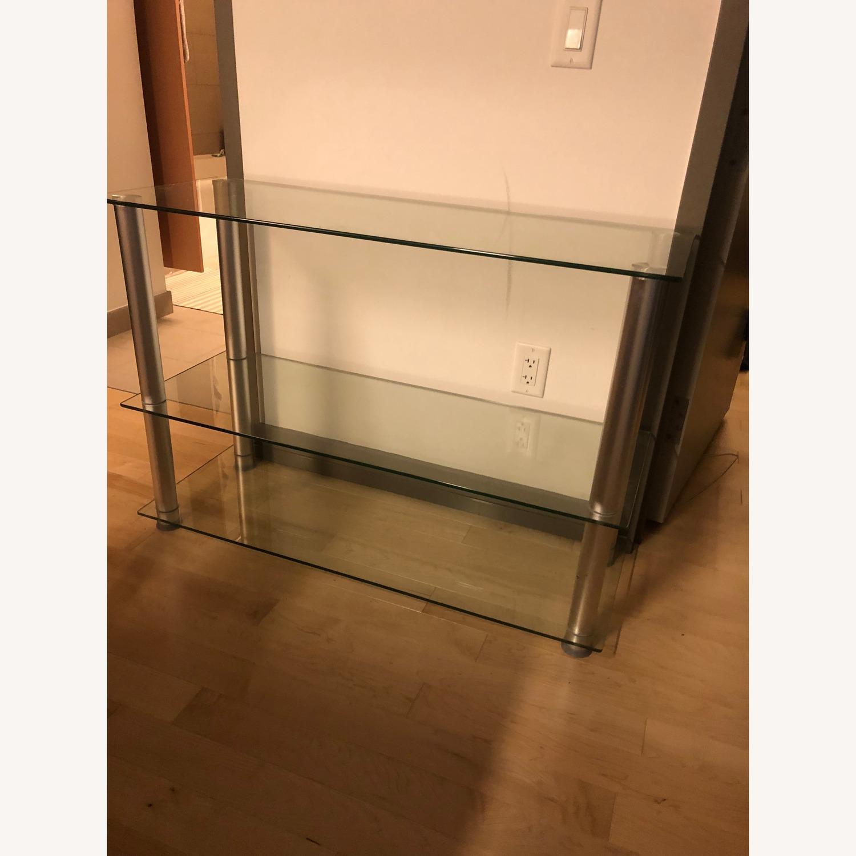 Houzz Glass & Aluminum TV Stand - image-1