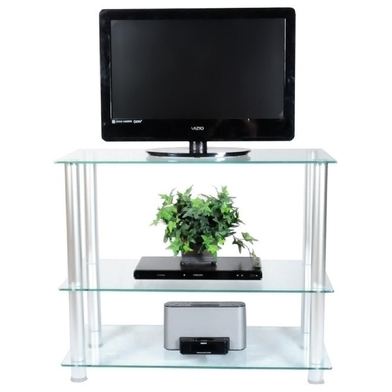 Houzz Glass & Aluminum TV Stand