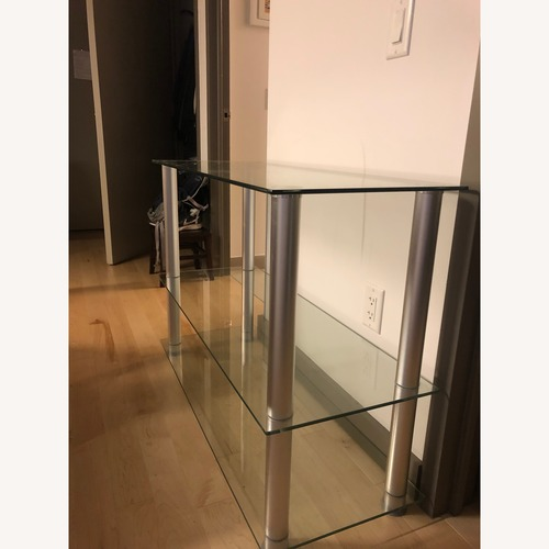 Houzz Glass & Aluminum TV Stand