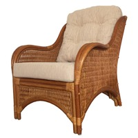 Karmen Light Brown Rattan Lounge Chair