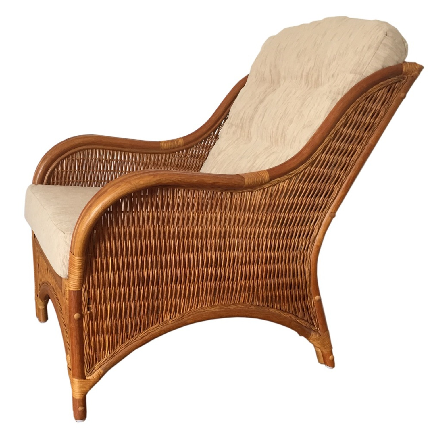 Karmen Light Brown Rattan Lounge Chair - image-2