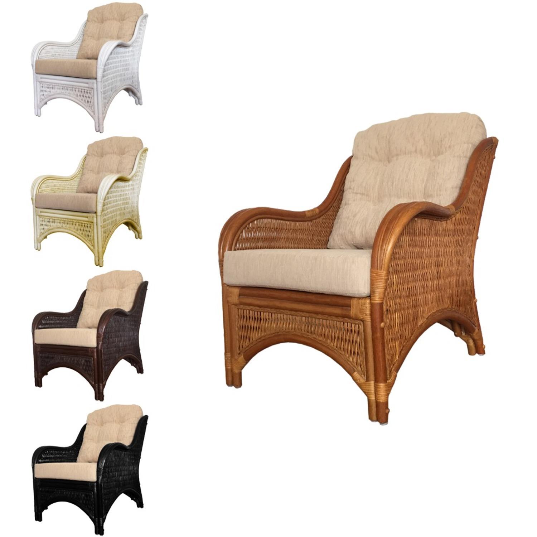 Karmen Black Solid Rattan Lounge Chair - image-1