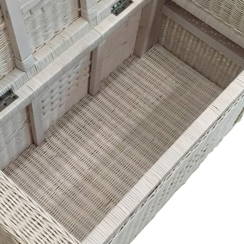 Adam White Solid Rattan Chest Storage Ottoman - image-5