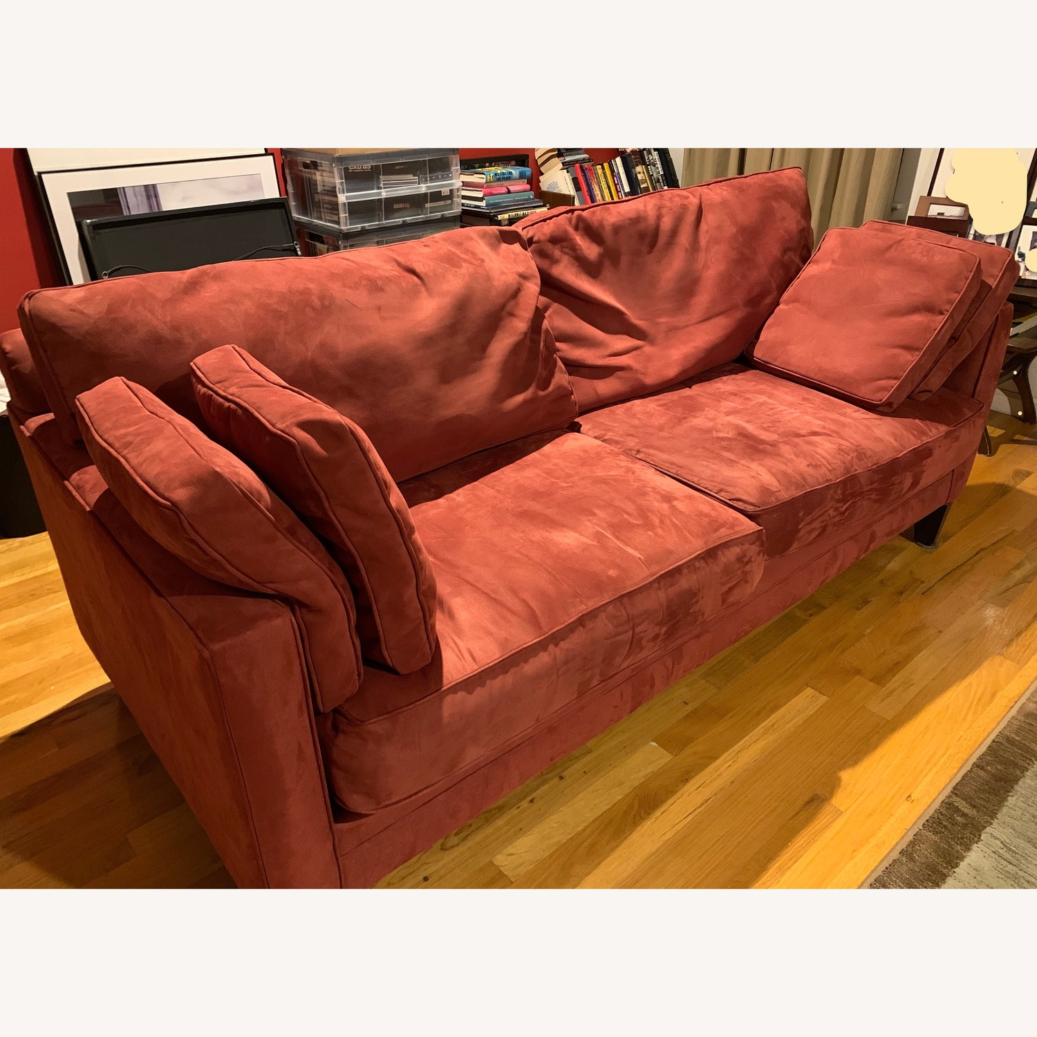 Bauhaus Red Suede Sofa