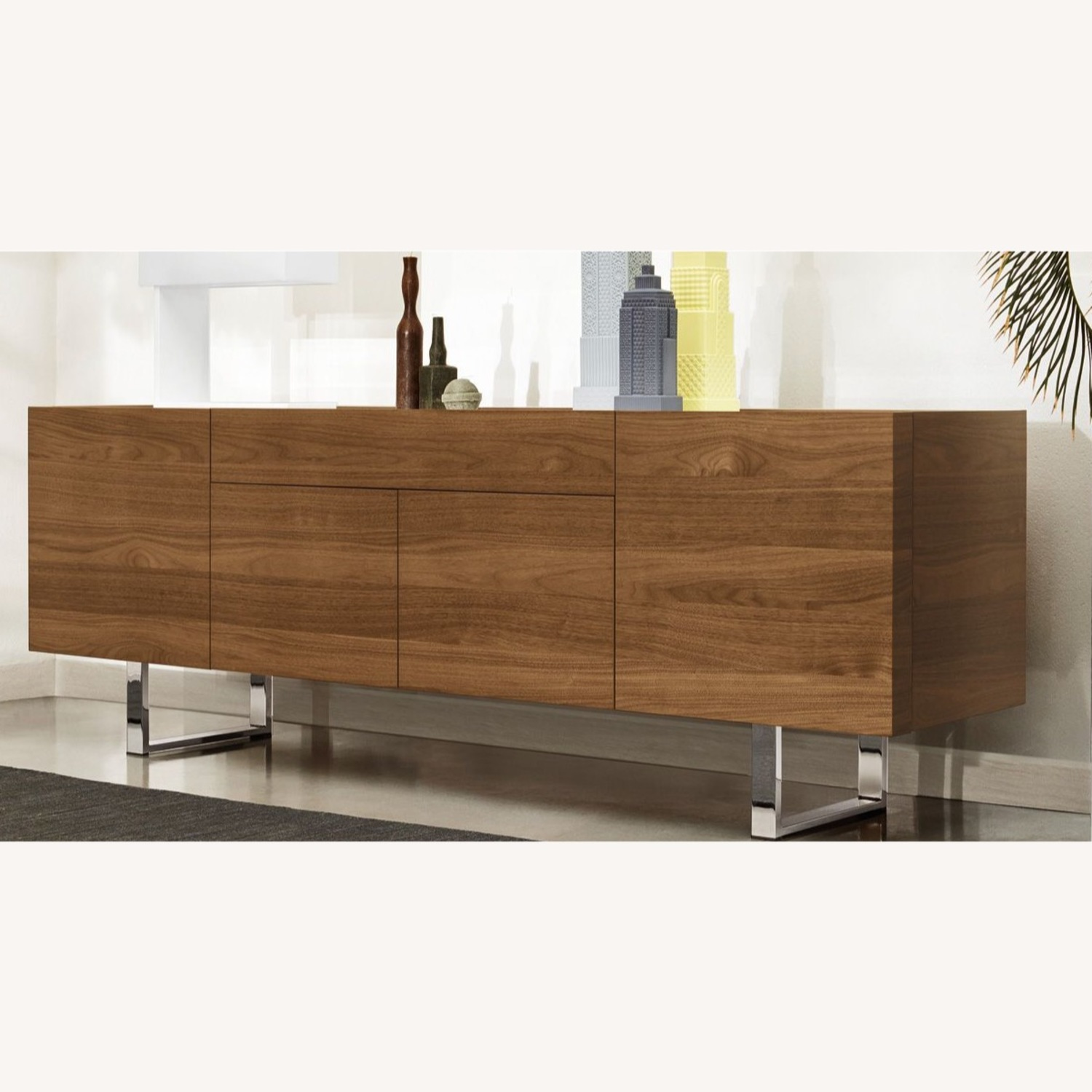 Calligaris Horizon Walnut Wood Dresser.