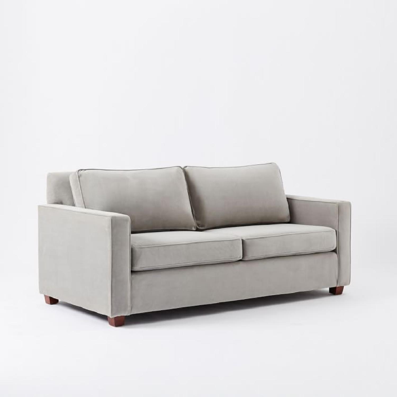 West Elm Dove Grey Henry Sofa - image-0