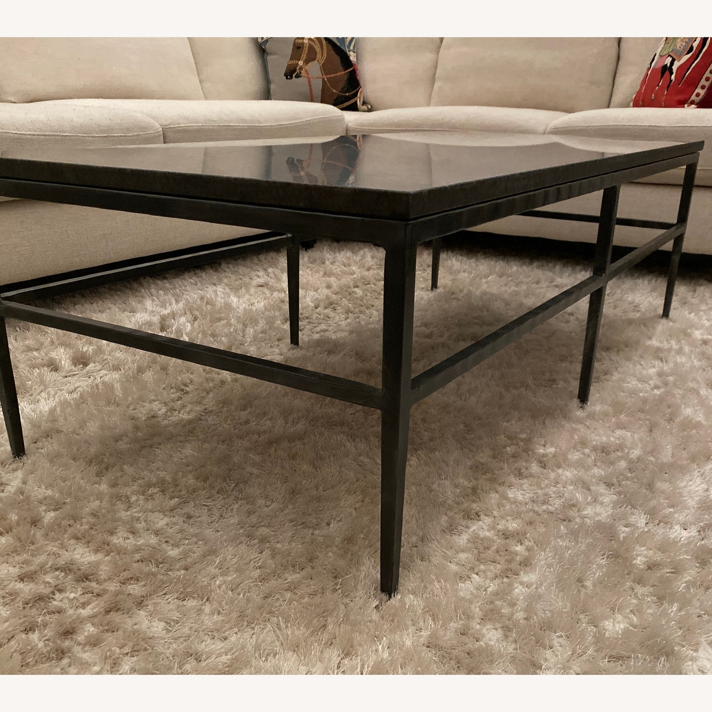 Crate & Barrel Granite Bastille Coffee Table - image-4