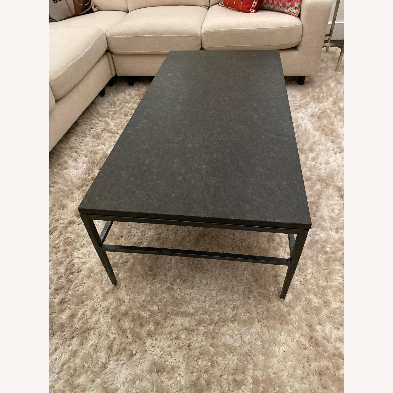 Crate & Barrel Granite Bastille Coffee Table - image-2