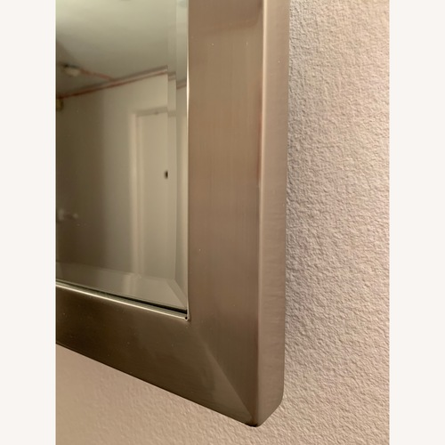 Pottery Barn Brushed Silver Mirror