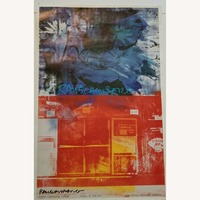 1990s Robert Rauschenberg Signed Limited Edition Lithograph