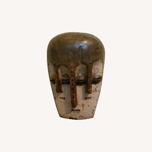 African Tribal Three Face Mask Art Wall Sculpture