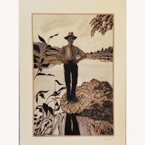 Billy Childish Man Stood on Rock Limited Edition Print