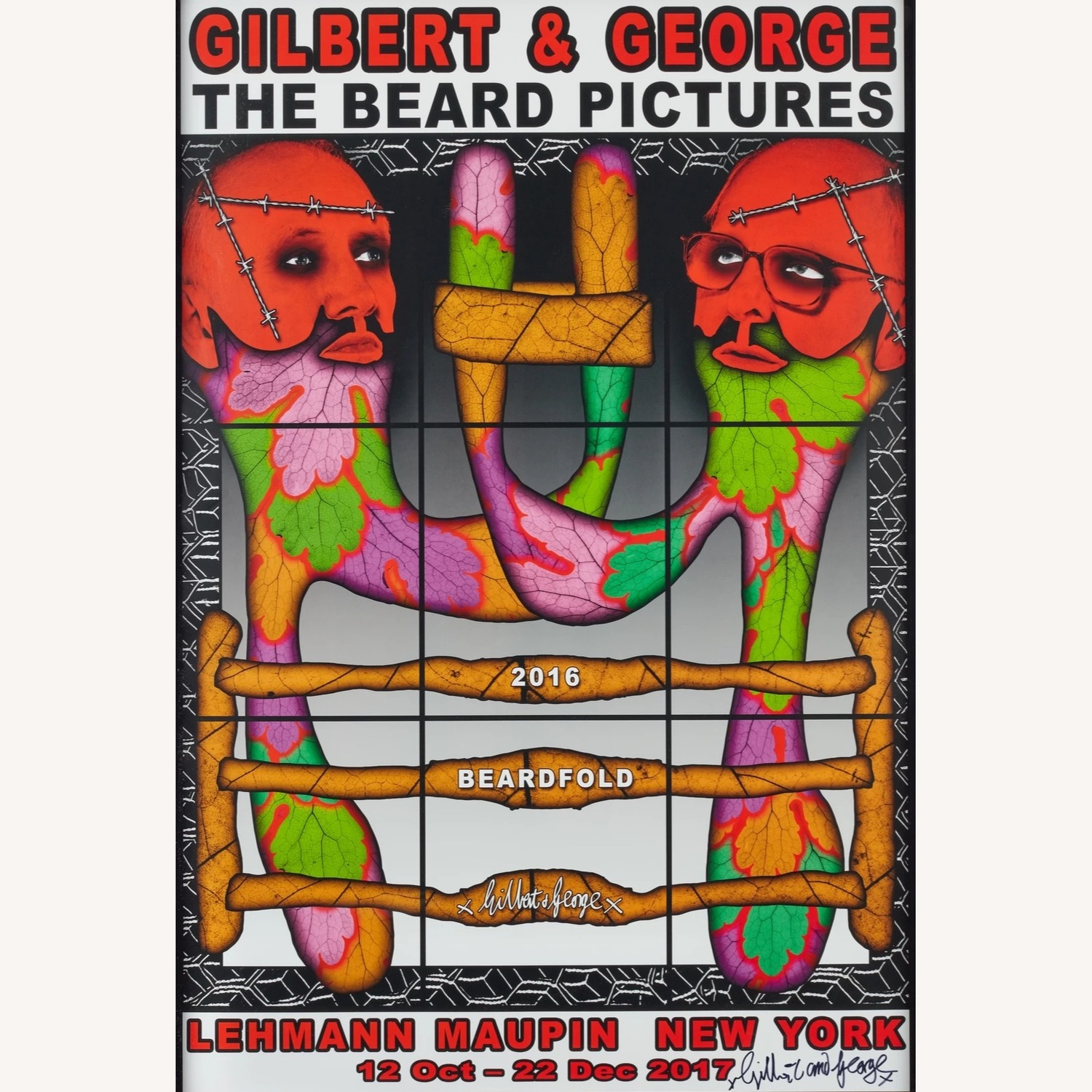 Gilbert & George Signed Exhibition Lithograph