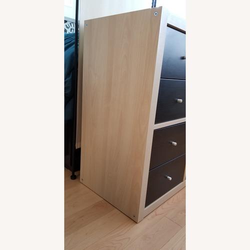 Ikea Birch & Dark Teak Console Bookcase