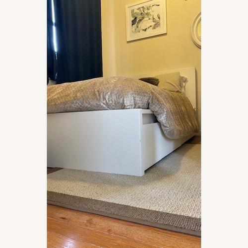 Ikea Malm White Full Bed w/ 2 Storage Drawers