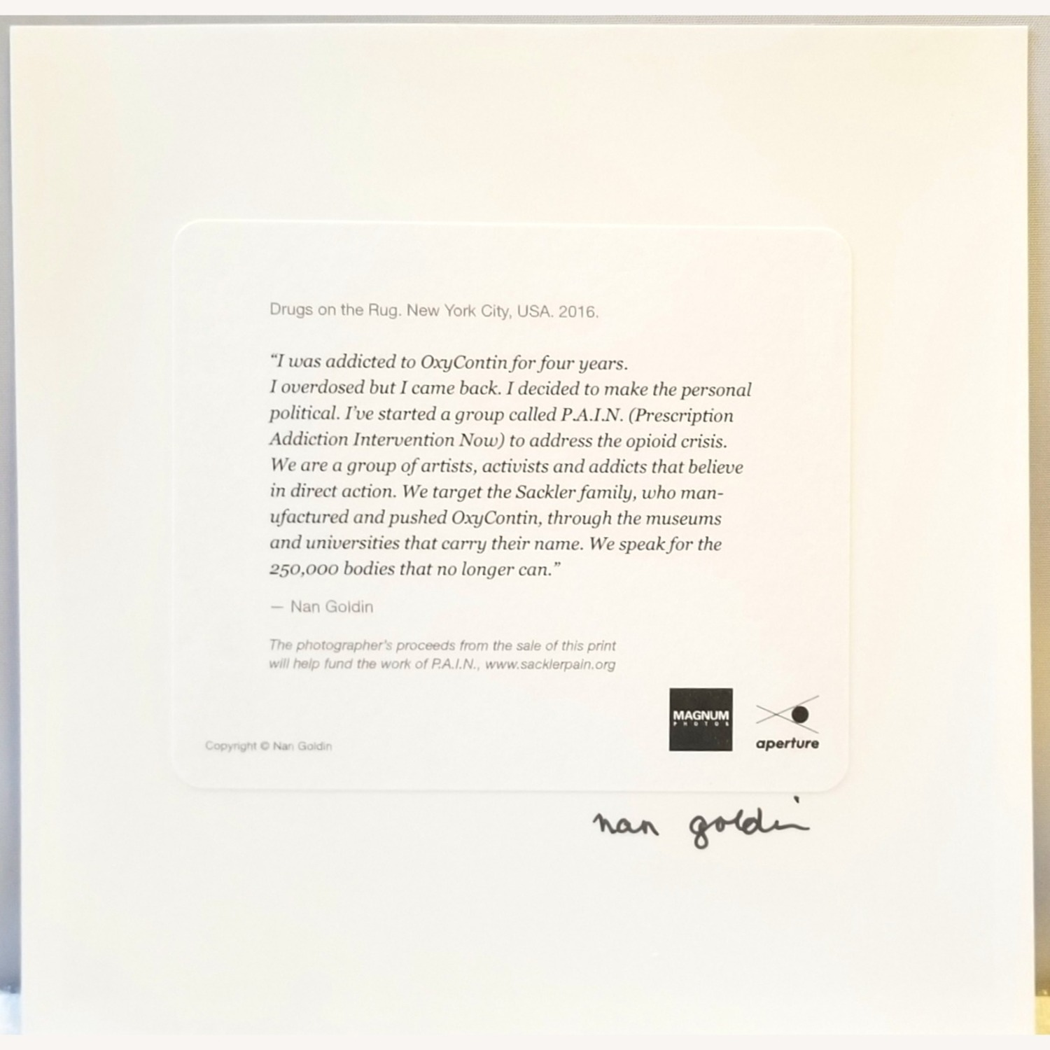 Nan Goldin Signed Limited Edition Photograph - image-2