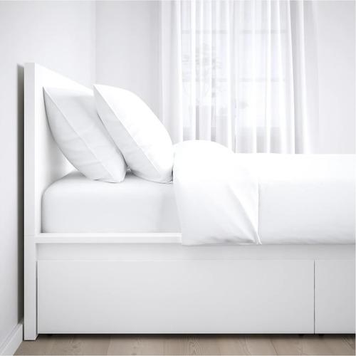 Ikea Malm White Full Bed w/ 4 Storage Drawers