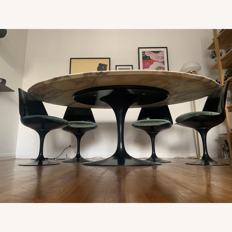 Knoll Saarinen Tulip Dining Table w/ Calacatta Marble Top - image-2