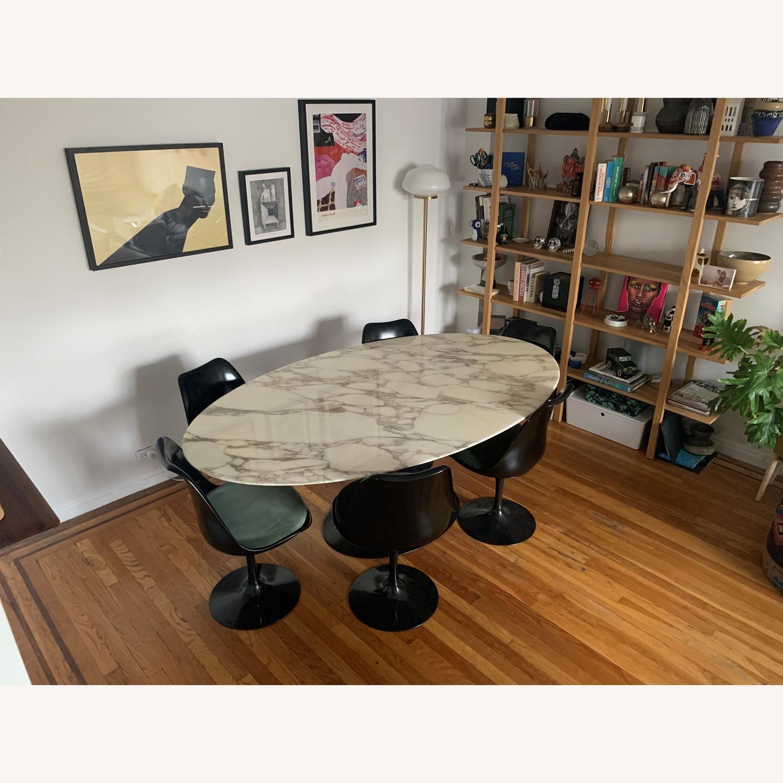 Knoll Saarinen Tulip Dining Table w/ Calacatta Marble Top - image-1