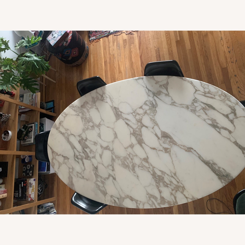 Knoll Saarinen Tulip Dining Table w/ Calacatta Marble Top - image-4