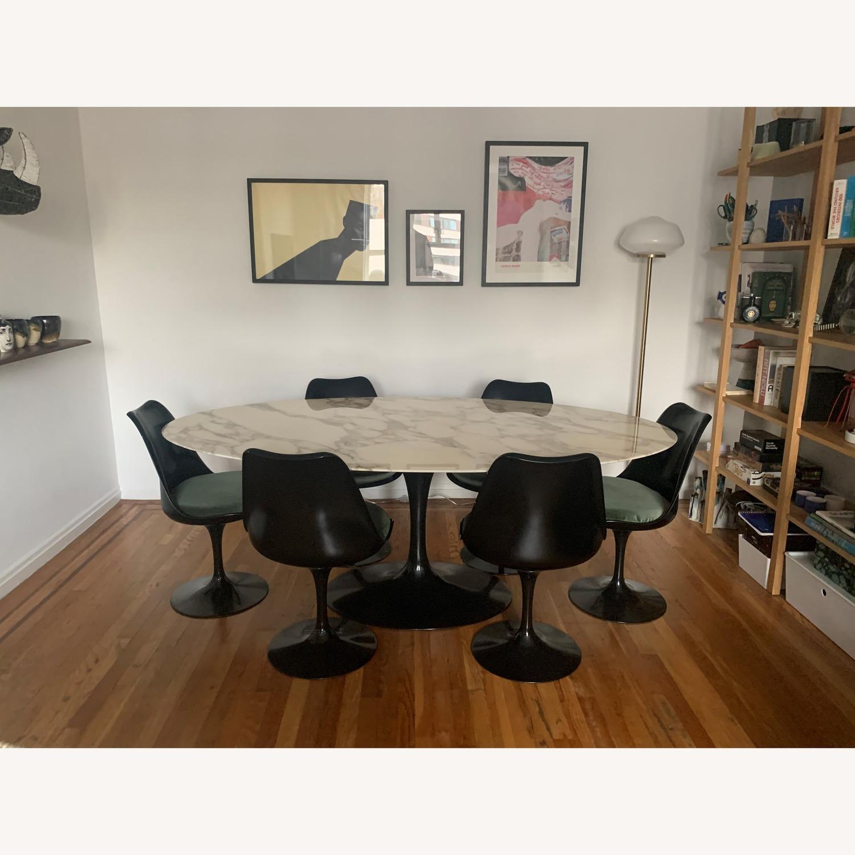 Knoll Saarinen Tulip Dining Table w/ Calacatta Marble Top - image-3