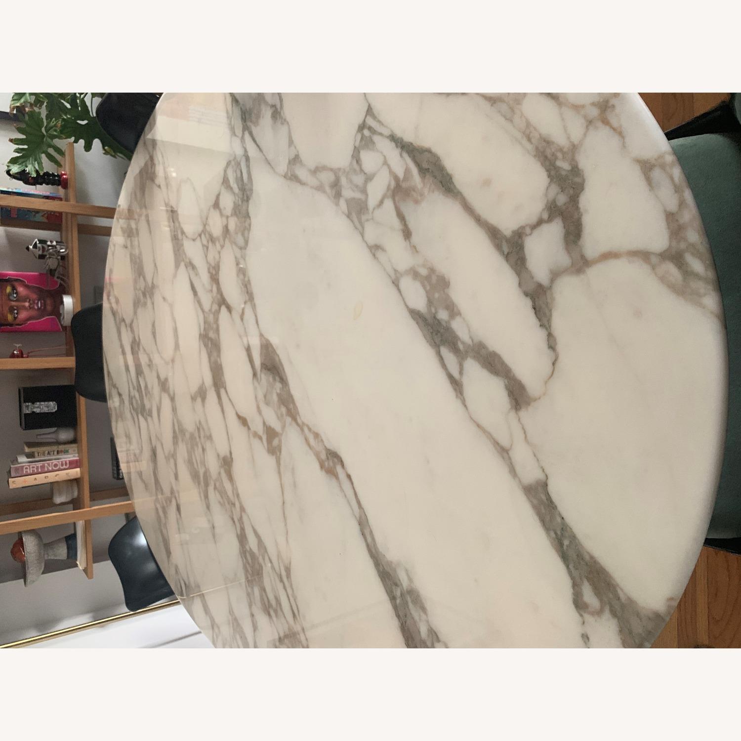 Knoll Saarinen Tulip Dining Table w/ Calacatta Marble Top - image-7