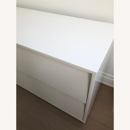 CB2 Shake White Lacquer Low Dresser