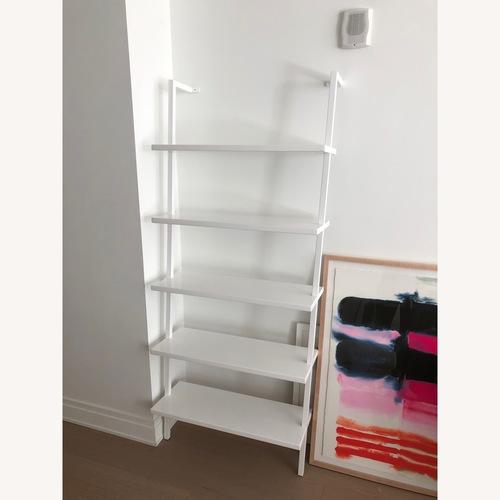 CB2 White Wall Mounted Bookshelf