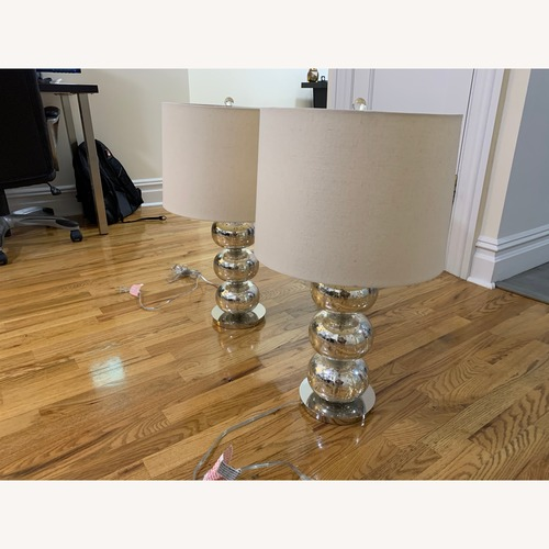 West Elm Abacus Mercury Glass Table Lamps