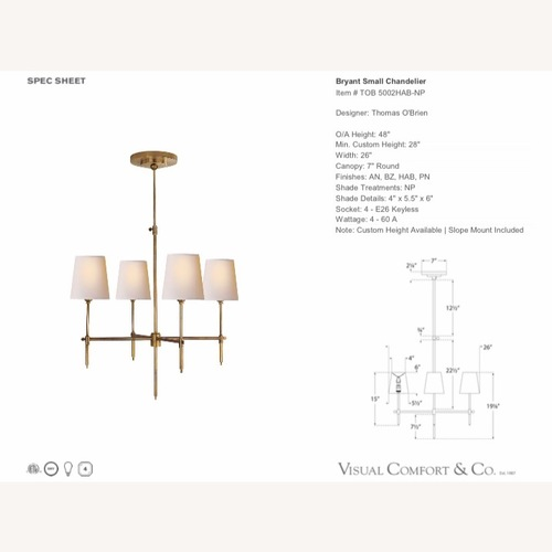 Thomas OBrien Small Chandelier
