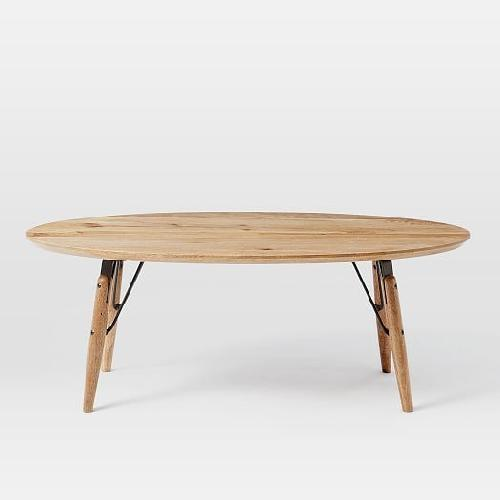 West Elm Graphica Oval Coffee Table in Raw Mango
