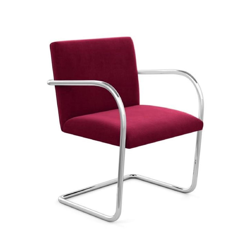 Mies Van Der Rohe Tubular Chrome Brno Chair - image-0