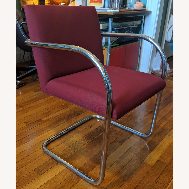 Mies Van Der Rohe Tubular Chrome Brno Chair - image-1