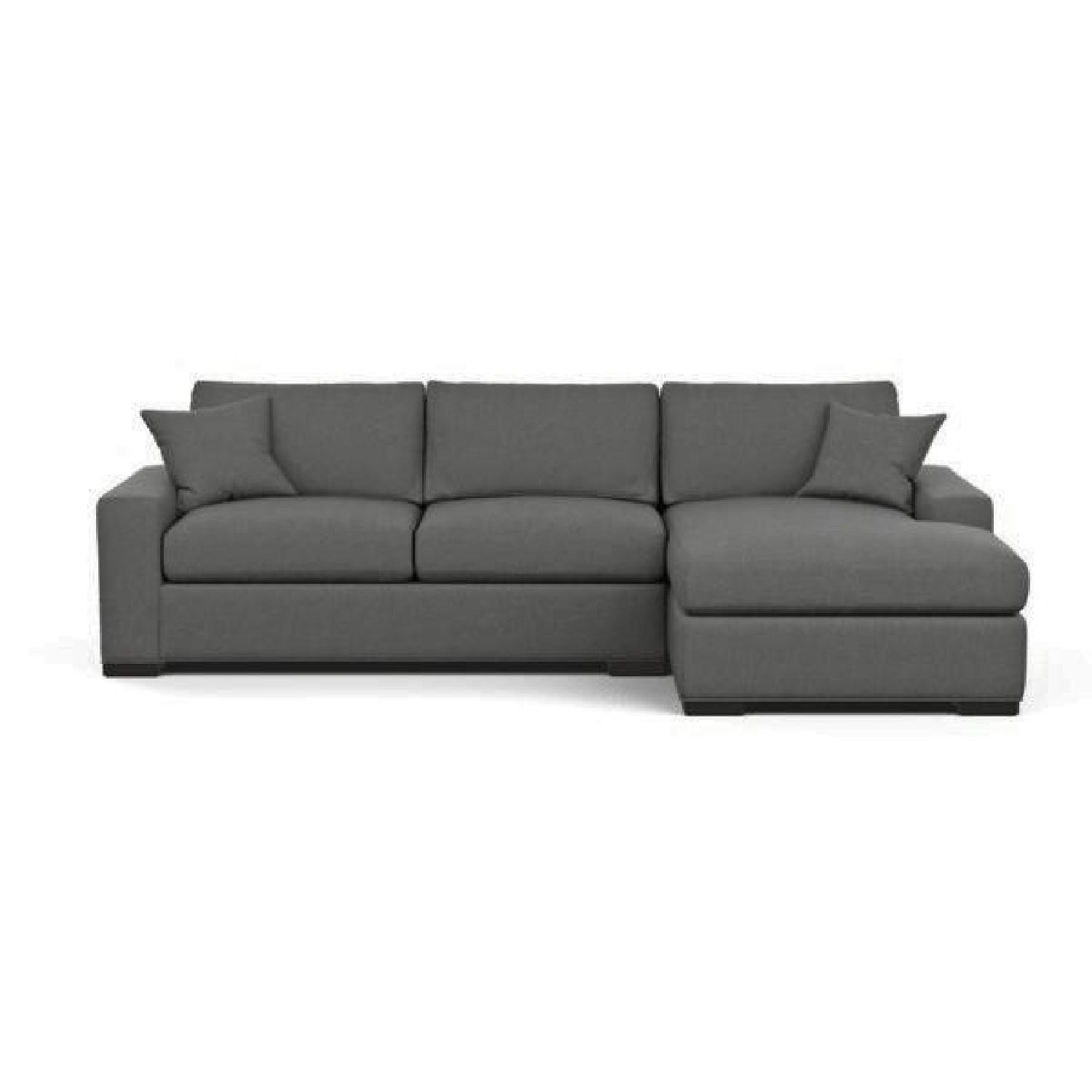 Ethan Allen Conway Grey 2-Piece Sectional Sofa - image-0