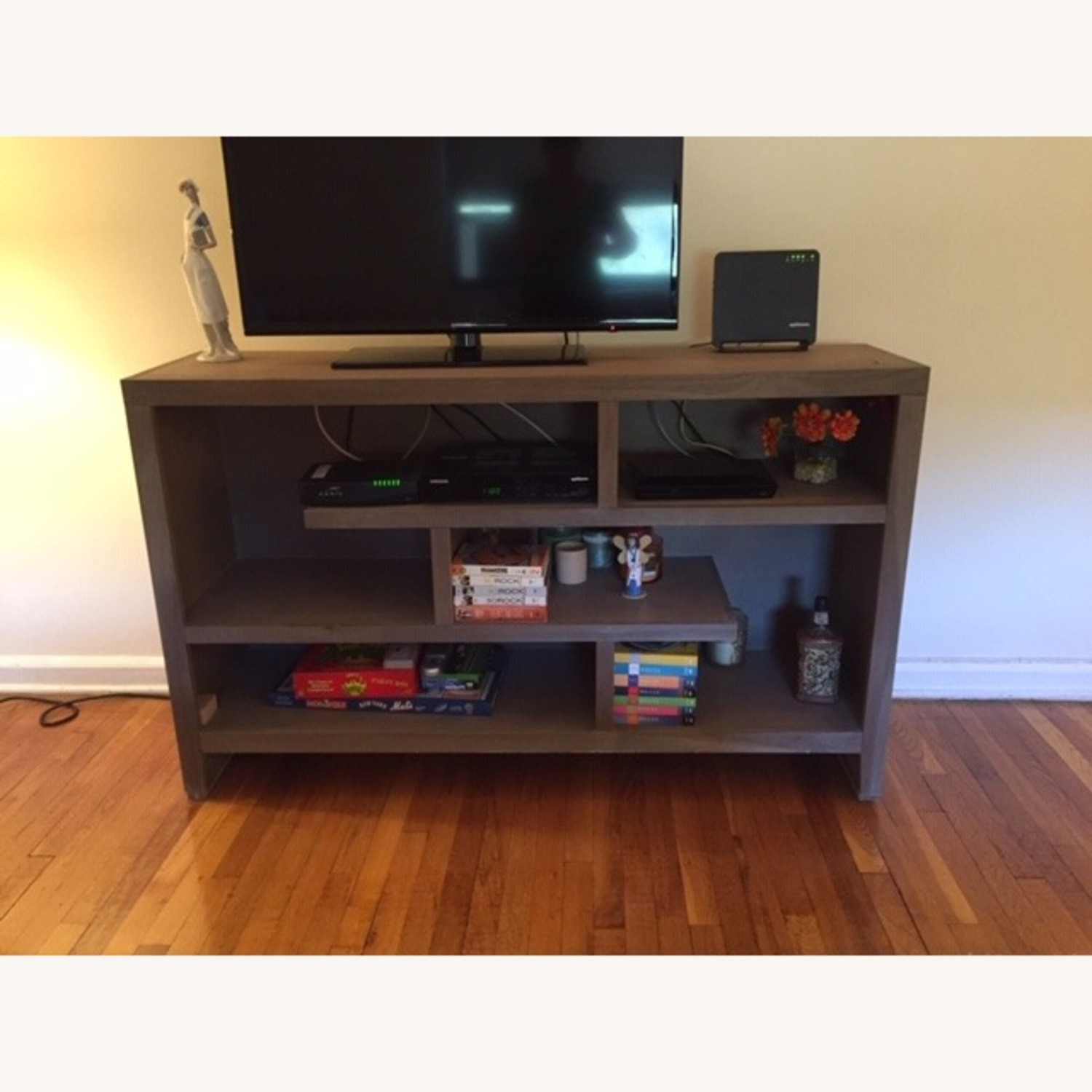 Home Goods Gray Wood Entertainment Center - image-2