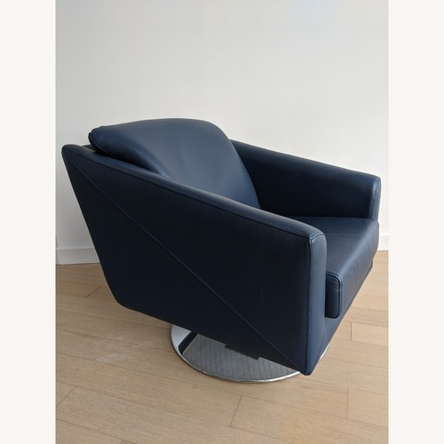 Lazzoni Ada Blue Leather Armchair