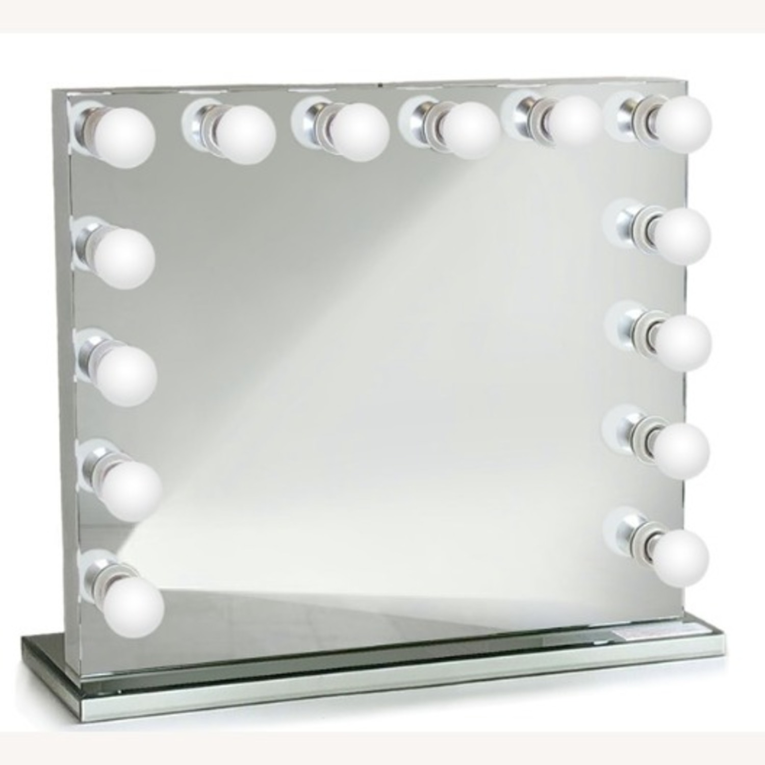 Non-Dimmable LED Mirror w/ Mirrored Stand - image-2