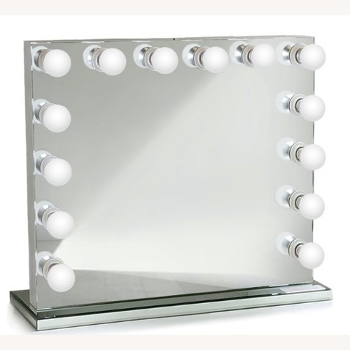 Non-Dimmable LED Mirror w/ Mirrored Stand