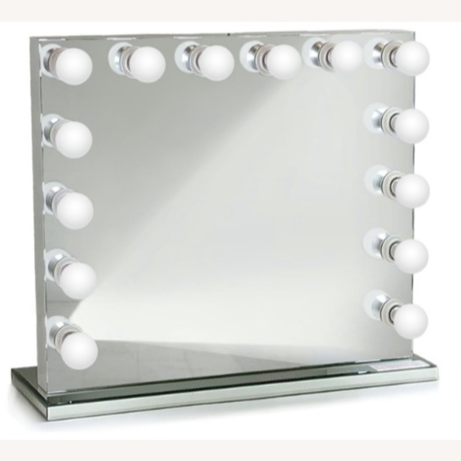 Non-Dimmable LED Mirror w/ Mirrored Stand - image-0