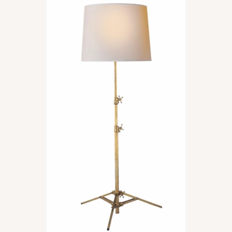 Picture of: Visual Comfort Lighting Antique Brass Adjustable Floor Lamp Aptdeco