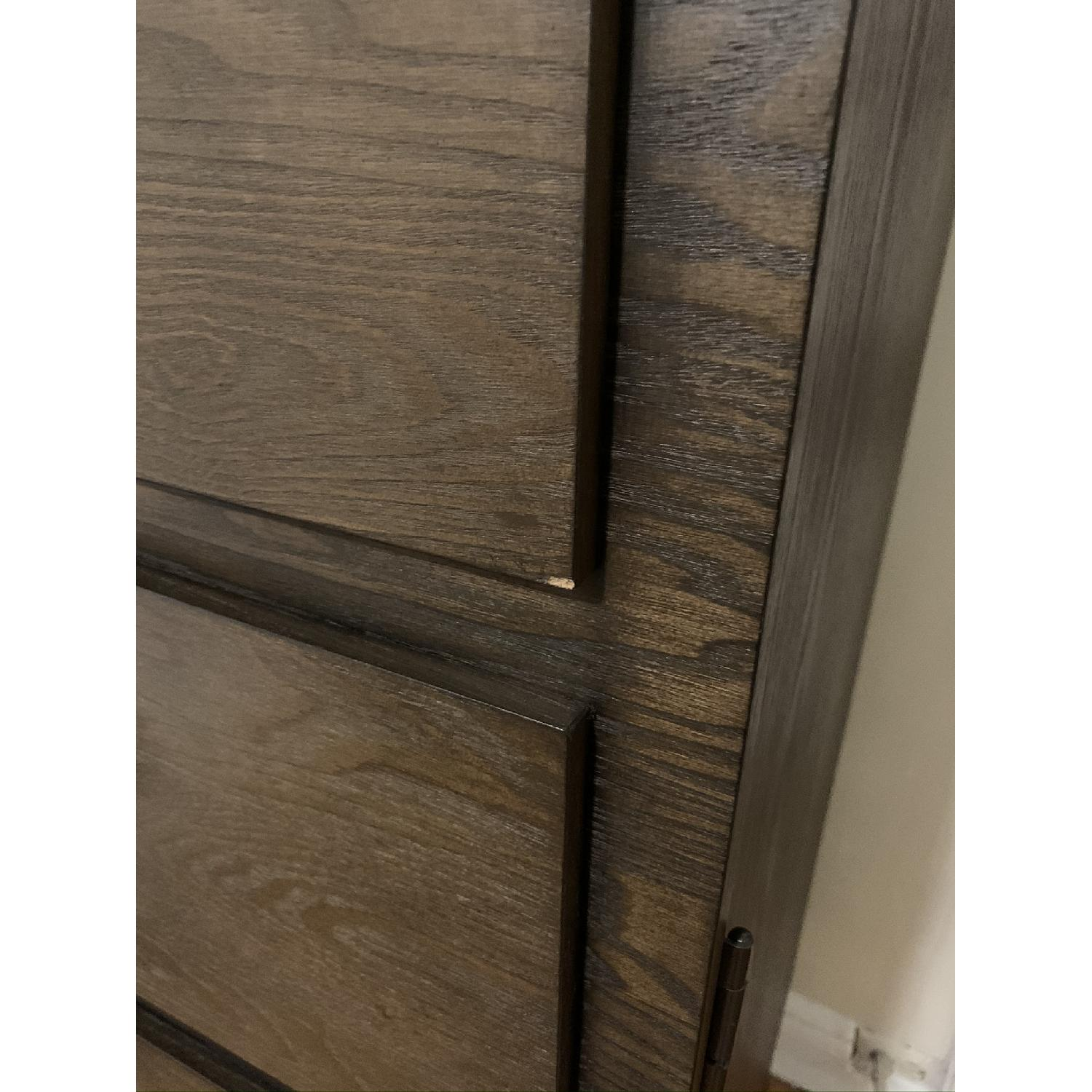West Elm Panelled Armoire - AptDeco