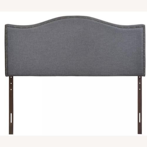 Modway Smoke Gray Queen Nailhead Upholstered Headboard