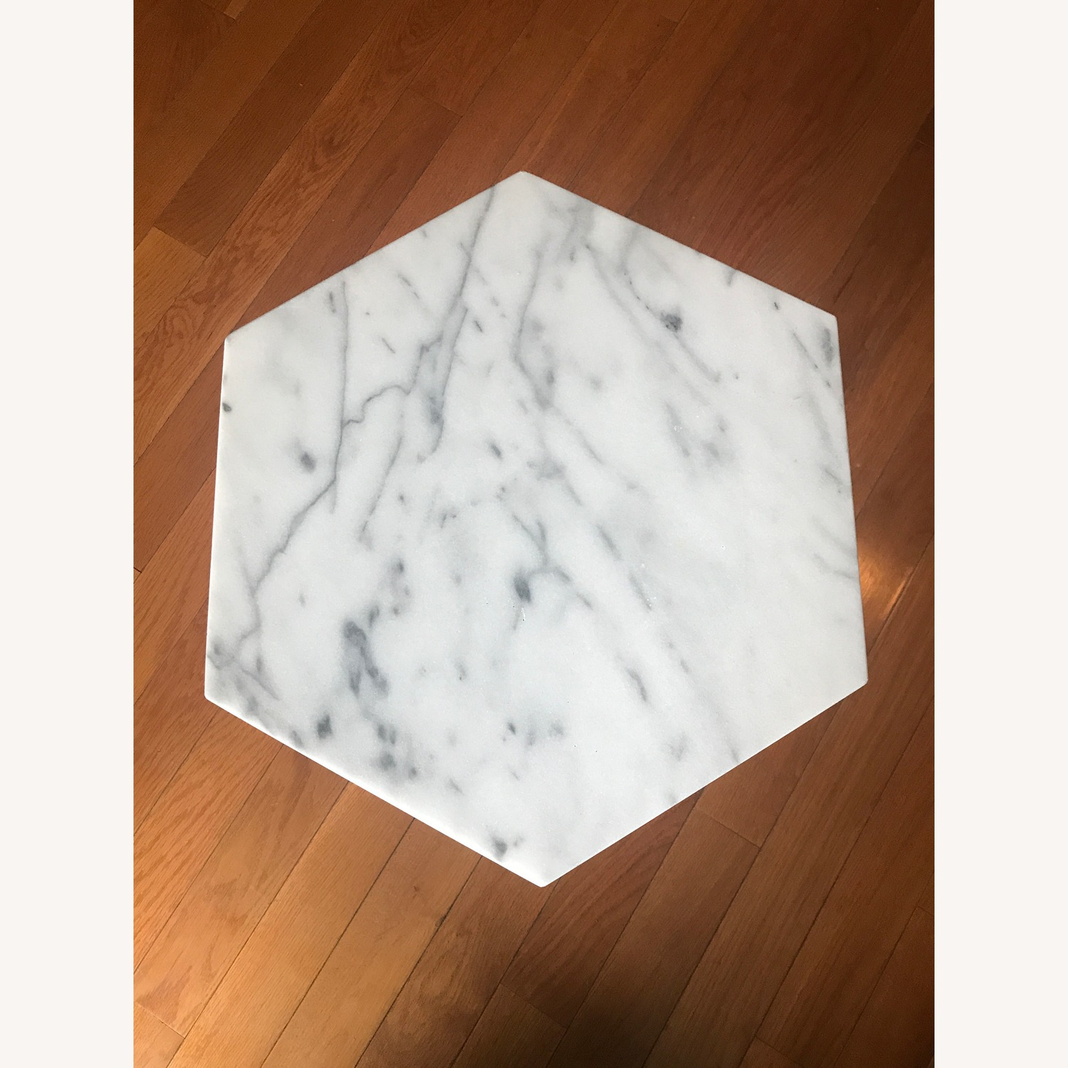 West Elm Marble Hex Side Tables - image-2