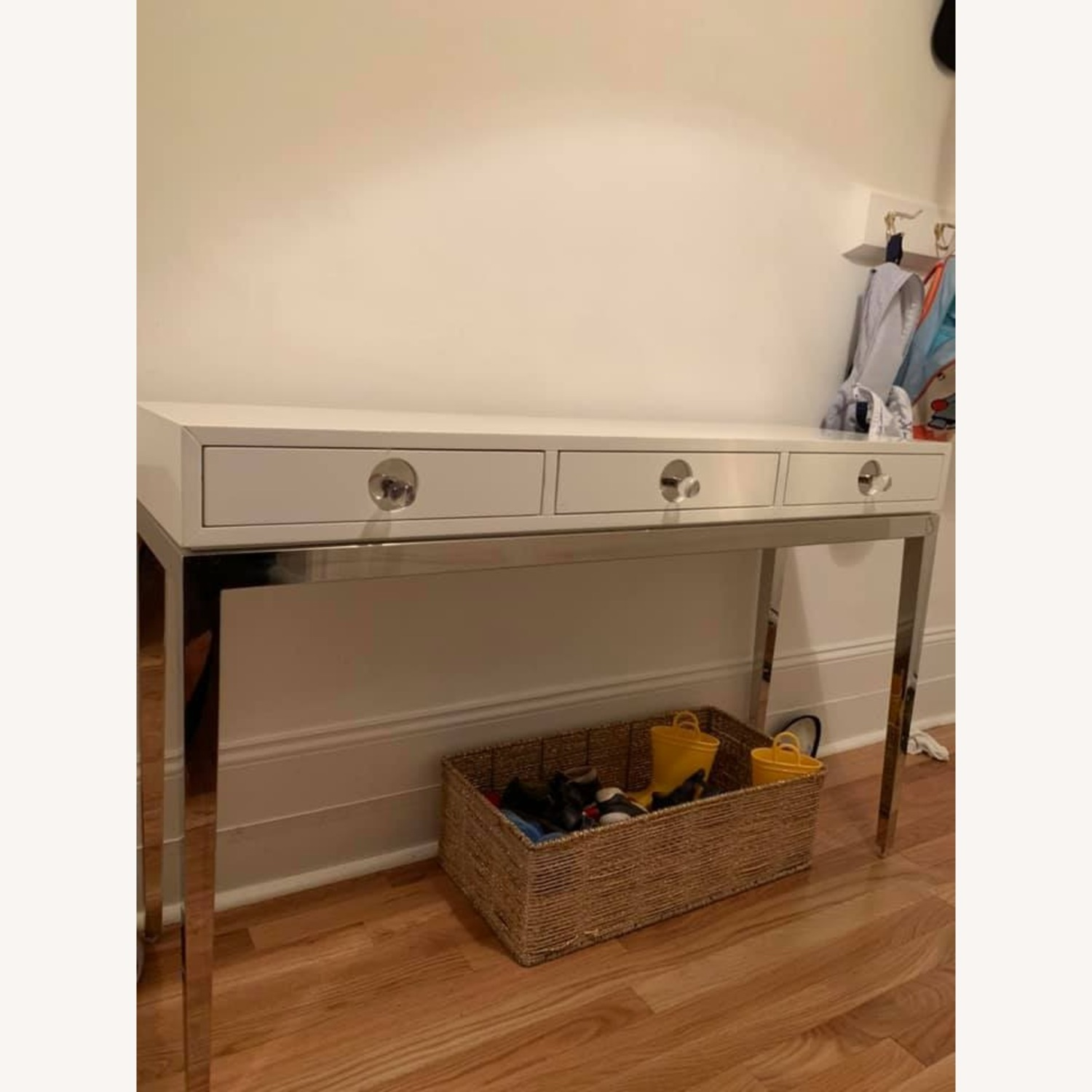 Jonathan Adler Channing Three Drawer White Console Table - image-4