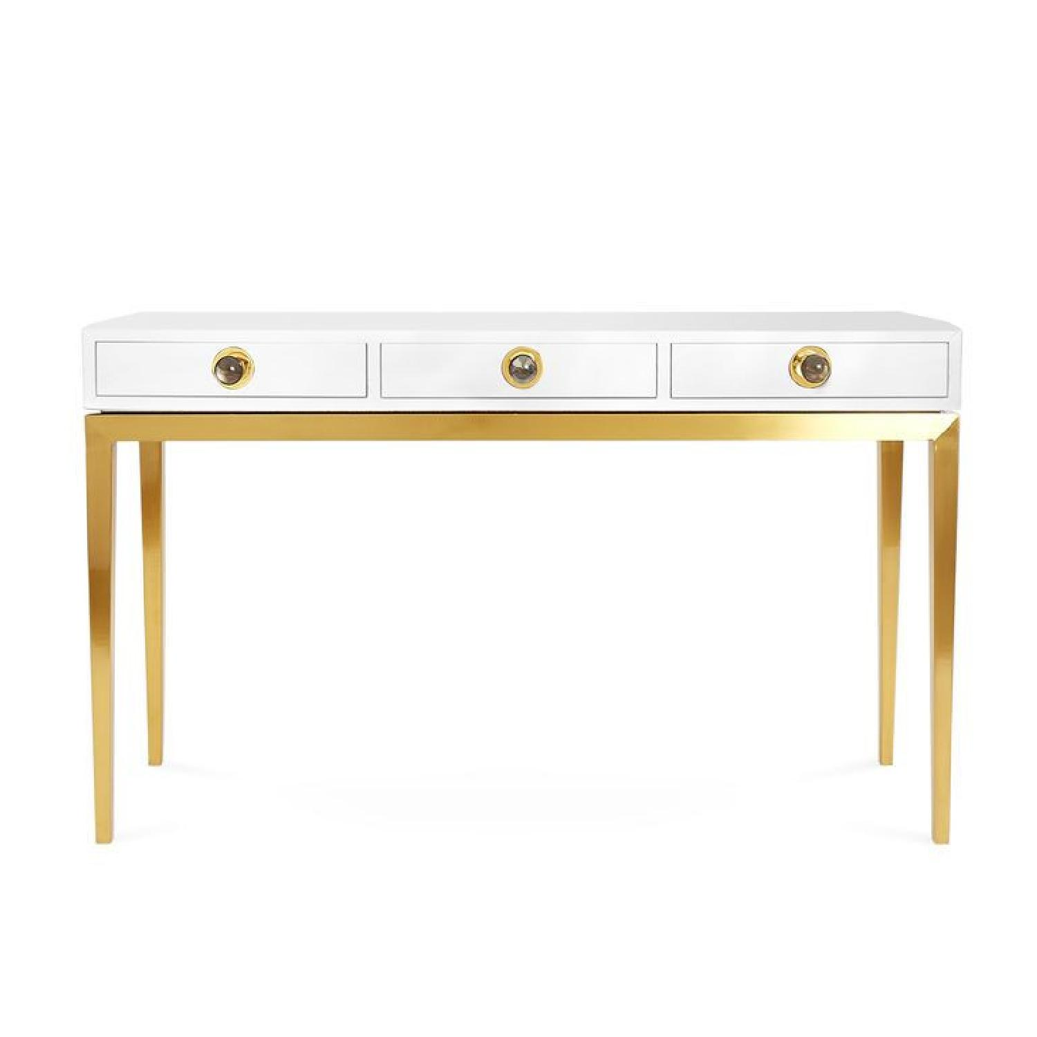 Jonathan Adler Channing Three Drawer White Console Table - image-0