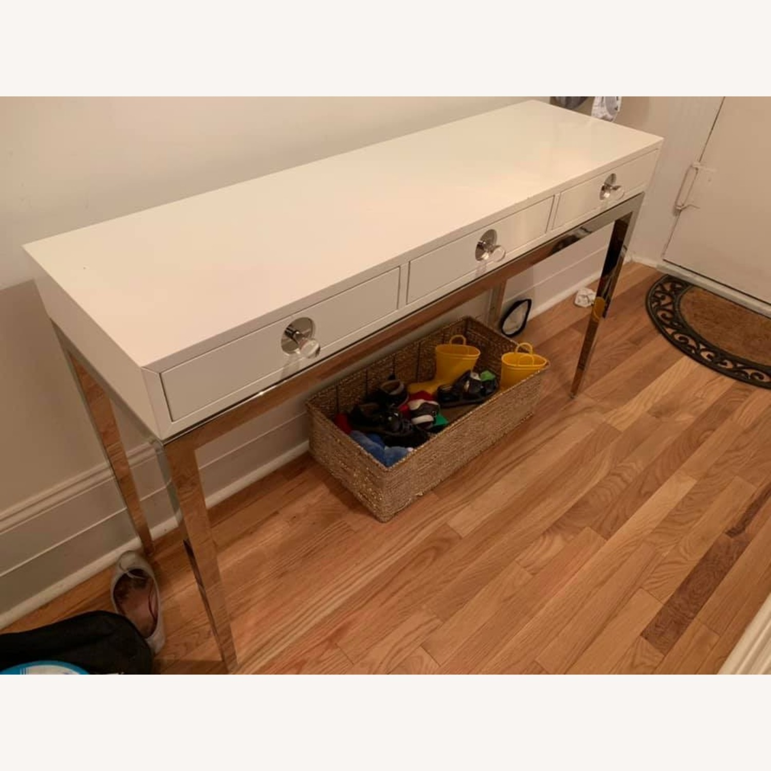 Jonathan Adler Channing Three Drawer White Console Table - image-1