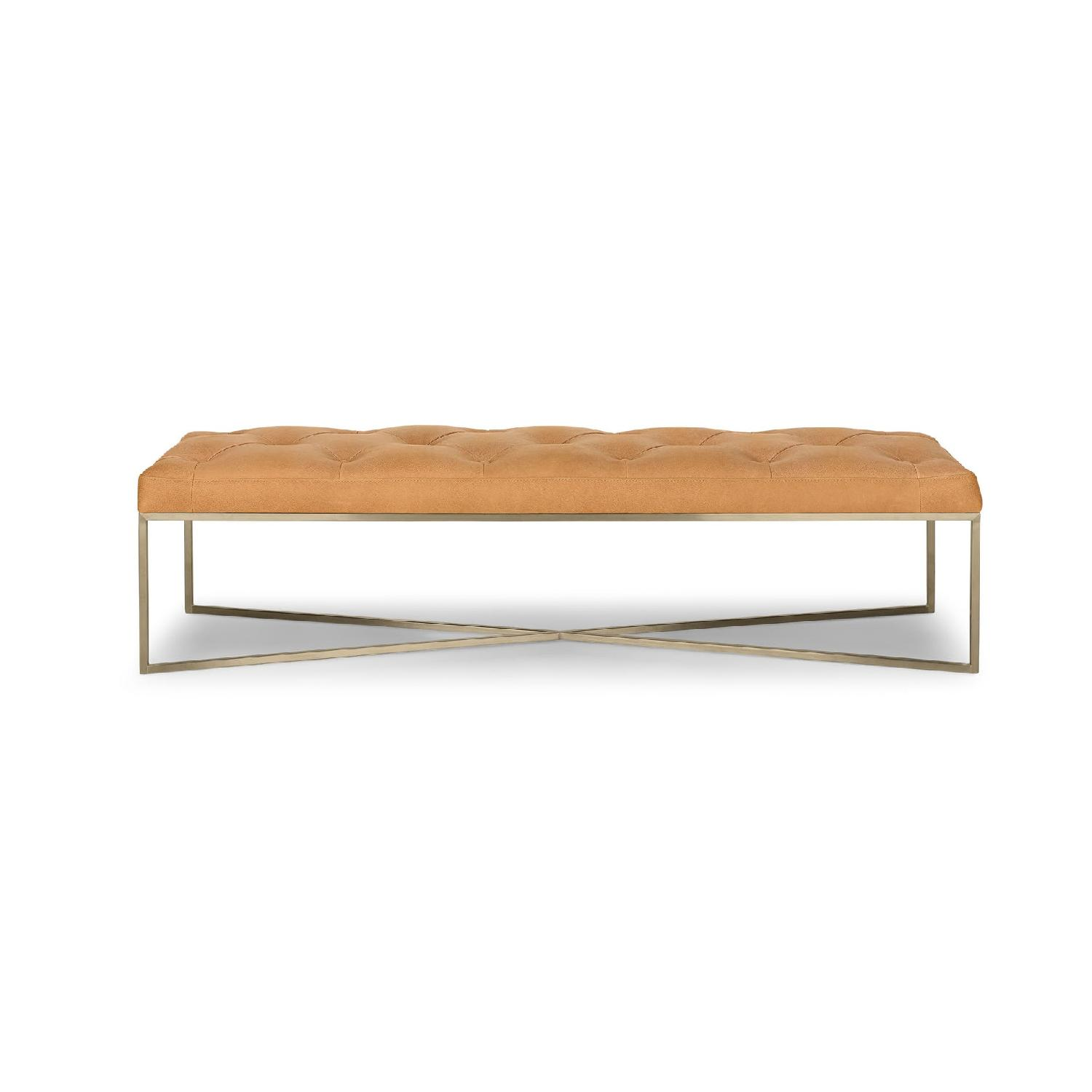 Article Tablet Charme Blonde Rectangular Ottoman - image-0