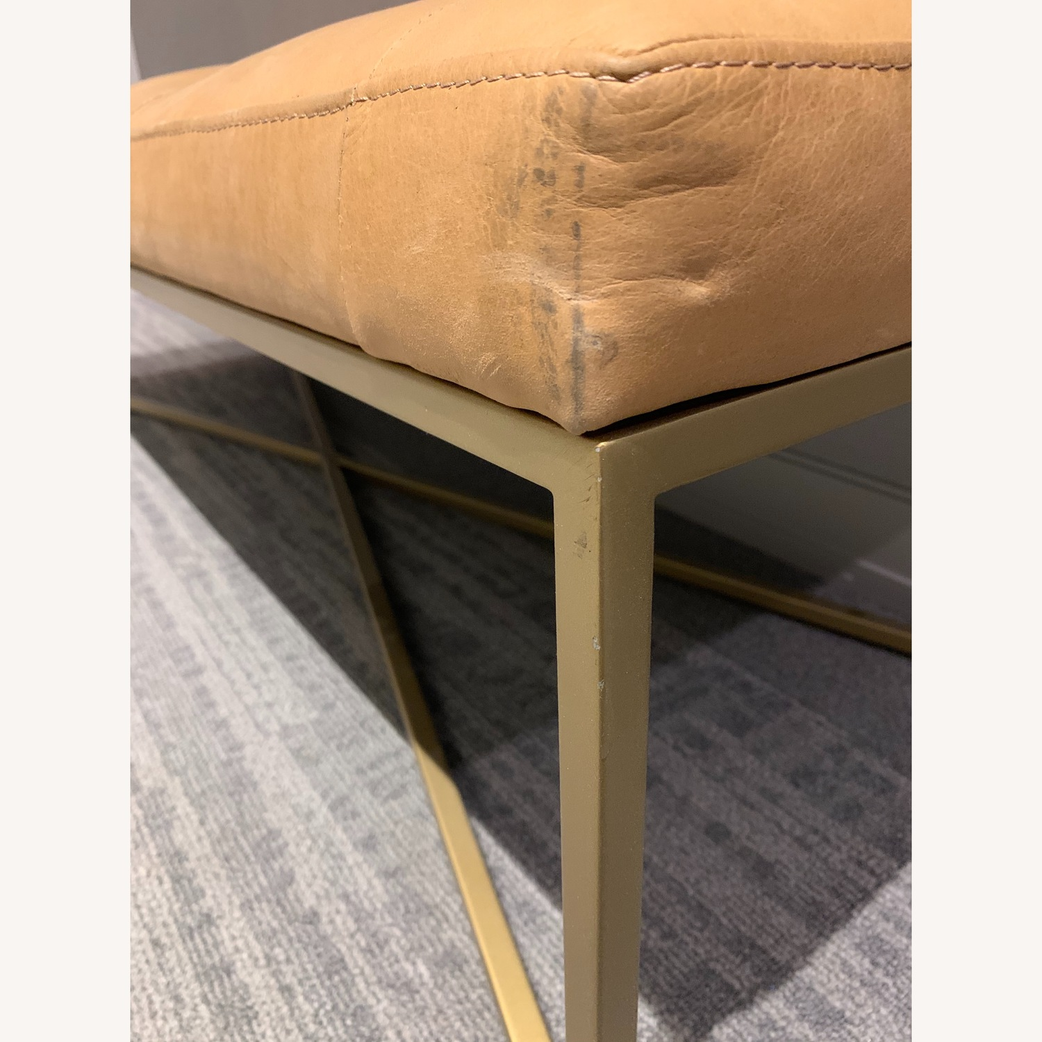Article Tablet Charme Blonde Rectangular Ottoman - image-8