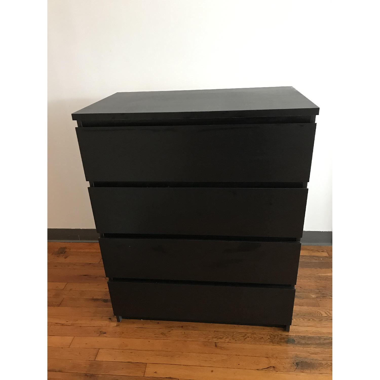 Ikea Malm Black Dresser Aptdeco